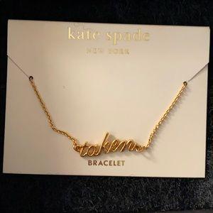 "NEW Kate spade ♠️ ""taken"" gold bracelet"